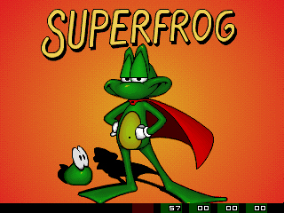 Superfrog Titlescreen